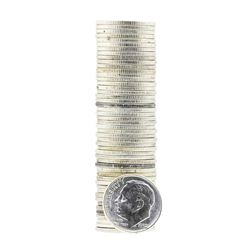 Roll of (50) 1952 Brilliant Uncirculated Roosevelt Dimes