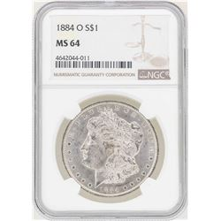 1884-O $1 Morgan Silver Dollar Coin NGC MS64