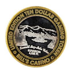 .999 Silver Bill's Casino Lake Tahoe, Nevada $10 Casino Limited Edition Gaming T