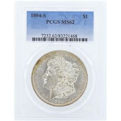 1894-S $1 Morgan Silver Dollar Coin PCGS MS62