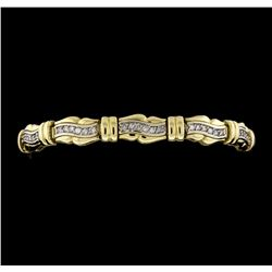 14KT Two Tone 1.50 ctw Diamond Bracelet
