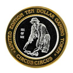 .999 Silver Circus Circus Hotel & Casino $10 Limited Edition Casino Gaming Token
