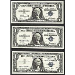 Lot of (3) Consecutive 1957 $1 Silver Certificate STAR Notes Uncirculated