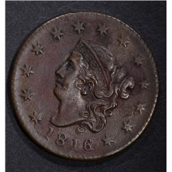 1816 LARGE CENT, AU DETAILS a few spots