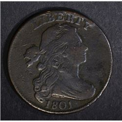 1801 DRAPED BUST LARGE CENT 1/000 XF