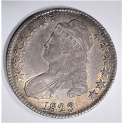 1823 CAPPED BUST HALF DOLLAR, XF BROKEN 3