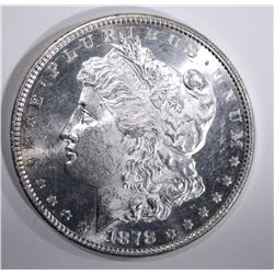 1878 8TF MORGAN DOLLAR, CH BU+