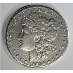 1895-O MORGAN DOLLAR, XF KEY COIN