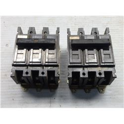 WESTINGHOUSE QUICKLAG C CIRCUIT BREAKER QC3020H AND QC3015H *LOT OF 2*
