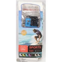 NEW 1080P SPORTS ACTION CAM WITH MOUNTS