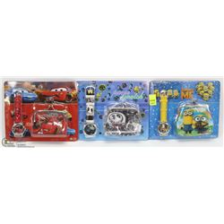 3 NEW KIDS WATCH AND WALLET SETS