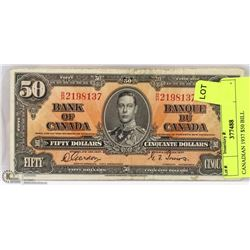 CANADIAN 1937 $50 BILL