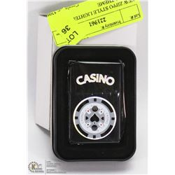 NEW ZIPPO STYLE LIGHTER W/ CASINO THEME