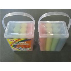 New Jumbo Sidewalk Chalk / 12 pieces per box / 24 total assorted colors