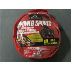 New Powersports Booster Cables / 10ft long Excellent for ATV's & Bikes