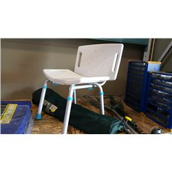 FOLDING CAMP CHAIR AND BATH ASSIST CHAIR