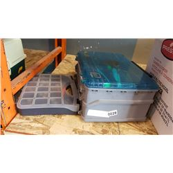 ORGANIZER OF LEAD FISHING WEIGHTS AND TACKLEBOX WITH CONTENTS