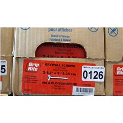 CASE OF 2 1/2 INCH DRYWALL SCREWS 6 X 500 PIECES