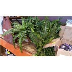 LOT OF ARTIFICAL FERNS