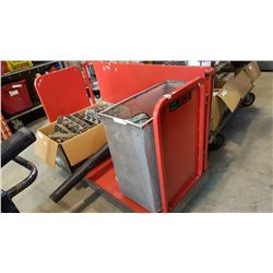 RED ROLLING CART
