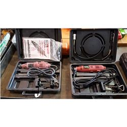 2 TOOL SHOP ROTARY TOOL SETS IN CASE