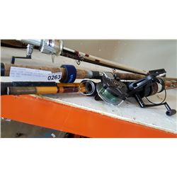 EAGLE CLAW FISHING ROD WITH REEL AND BLANCHARD FISHING ROD WITH REEL