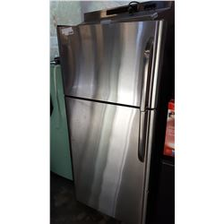 FRIGIDAIRE STAINLESS AND BLACK FRIDGE
