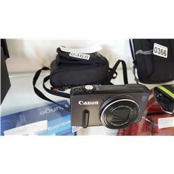 CANON SX270 HS 20X ZOOM 12.1 MP DIGITAL CAMERA WITH CASE, CHARGER