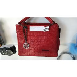 NEW RED LEATHER IZGI BAGS LADIES PURSE