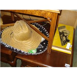 SOMBRERO SERVING TRAYS, STRAW HAT