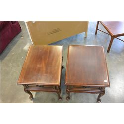 PAIR OF GIBBARD SOLID CHERRY 1 DRAWER NIGHTSTANDS
