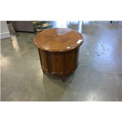 ROUND WALNUT ENDTABLE