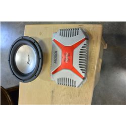 SONY XPLODE 1000 WATT AMP AND PATRIOT SUB