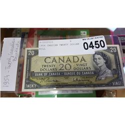 1954 CNADIAN TWENTY DOLLAR BILL