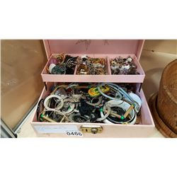 BOX OF ESTATE JEWELLRY AND SILVER