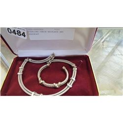 STERLING CHAIN NECKLACE AND BRACELET