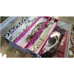 THREE TRAYS OF NECKLACES AND BRACELETS