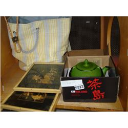 ENAMLED CAST IRON TEASET PICTURES AND BAG