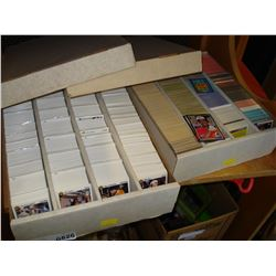 TWO BOXES OF BASEBALL AND HOCKEY CARDS