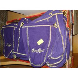 TRAY OF 100 CROWN ROYAL BAGS