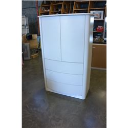 WHITE MODERN WARDROBE WITH 3 DRAWERS, MADE IN CANADA