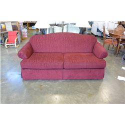RED MODERN UPOLSTERED SOFA
