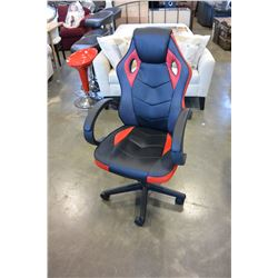 RED AND BLACK GAMING COMPUTER CHAIR