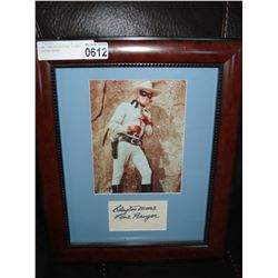 LONE RANGER PICTURE SIGNED CLAYTON MOORE