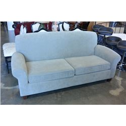 BEIGE MODERN UPOLSTERED SOFA WITH DOUBLE SIZE PULL OUT BED