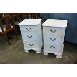 PAIR OF THREE DRAWER NIGHTSTANDS