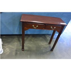 MAHOGANY FINISH HALL TABLE