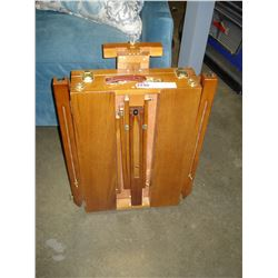 FOLDING ART EASEL WITH SUPPLIES