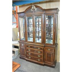 MAHOGANY 3 PIECE CABINET ILLUMINATED