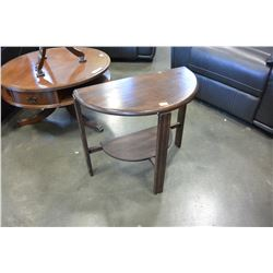 WOOD D TABLE
